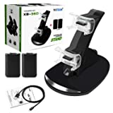 Xbox 360 Controller Charging Dock with 2pcs