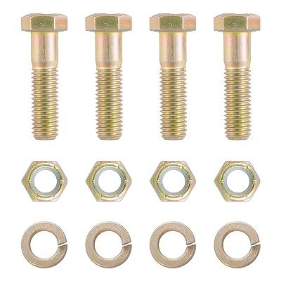 CURT 48330 Pintle Hitch Mount Hardware Kit, 4 Bolts, Yellow Zinc: Automotive