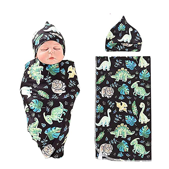 United 2 Pieces Set Newborn Swaddle Wrap Swaddle+hat Organic Cotton Infant Receiving Blanket Bedding Sleeping Bag For 0-6 Months Baby Quality First Baby Bedding