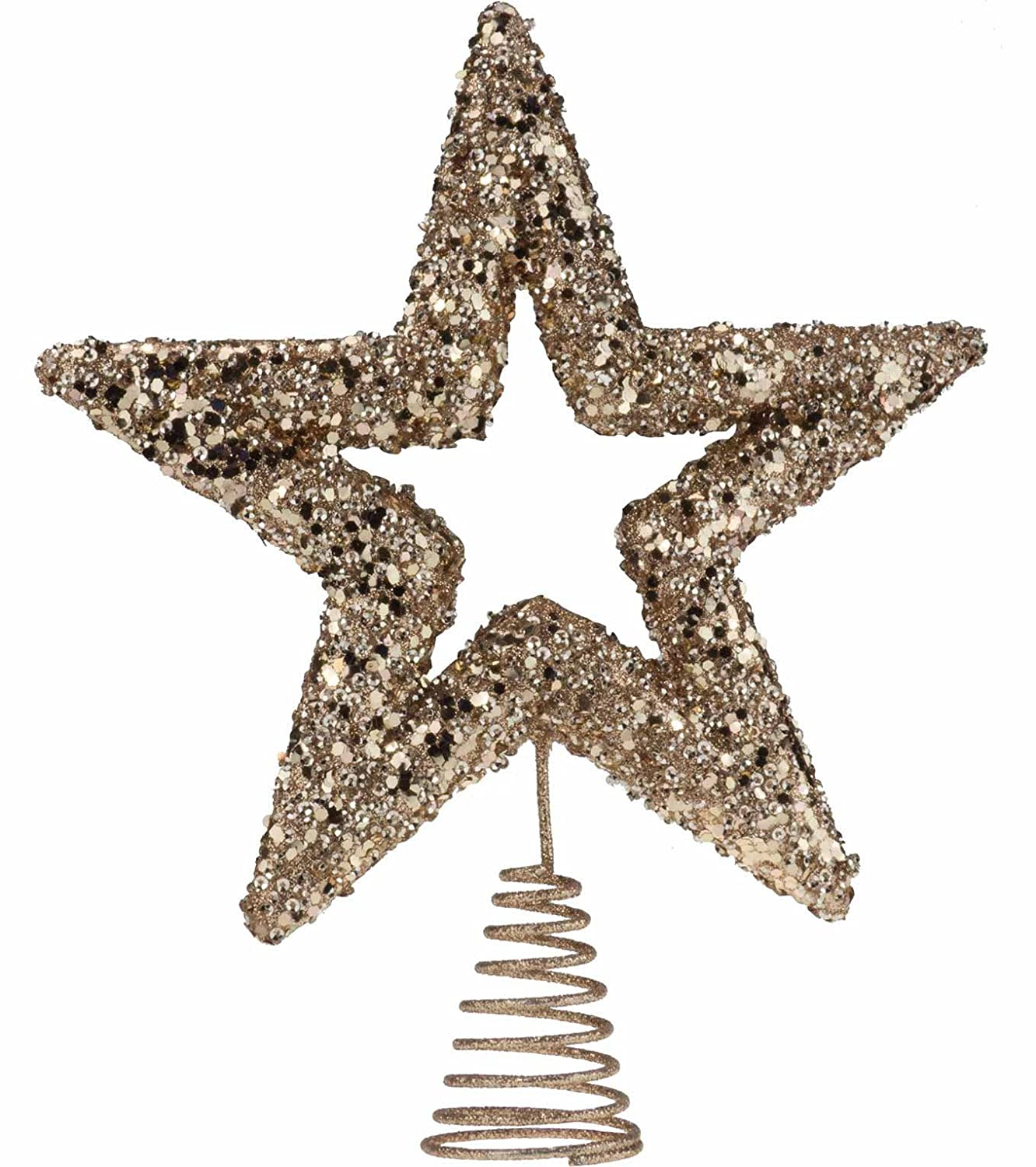 DZD Sequin Tree Topper - 23cm wide - Rose Gold