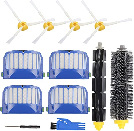 For iRobot Roomba 600 Series Replacement Replenishment Kit Brush Filters