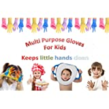 Kids Multipurpose LATEX FREE - POWDER FREE DISPOSABLE Gloves for Children (Mixed Colours- 20 Pairs)