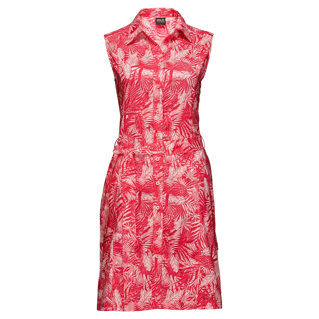 Hot Coral All Over Jack Wolfskin Women's Sonora Jungle Dress