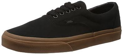 2e01c2e6b9e7fc Vans Unisex Black and Classic Gum Canvas Sneakers - 6 UK (VN-0W3CDUM ...