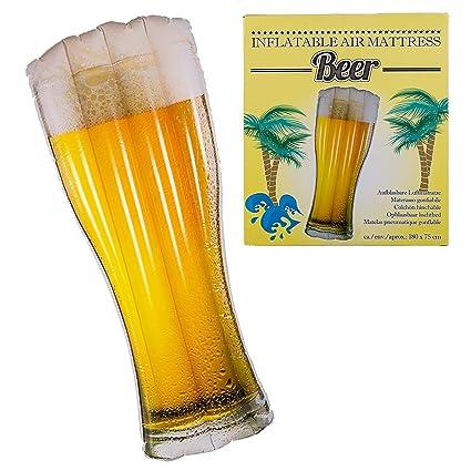 Colchón hinchable con mango de cerveza, accesorio hinchable ...