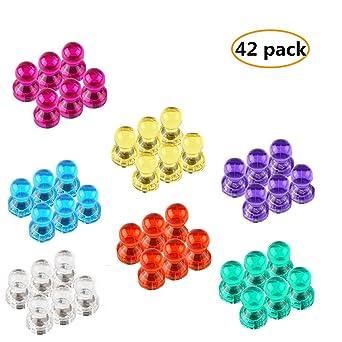 Newland - 42 imanes de diferentes colores, pins magnéticos ...