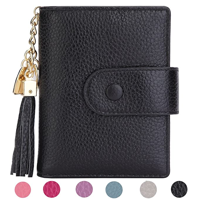 Women s Mini Credit Card Case Wallet with ID Window and Zipper Holder purse  ID Wallet ( 6fd528d89f