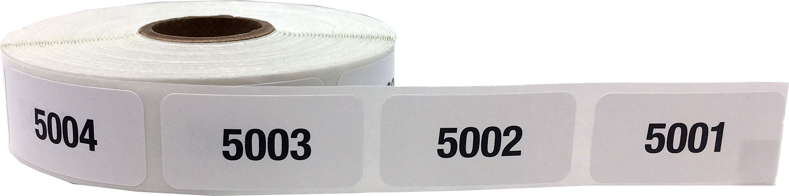 Consecutive Number Labels Bulk Pack Numbers 1 Through 10,000 White/Black .75 x 1.5 Rectangle Small Number Stickers For Inventory by InStockLabels.com (Image #8)