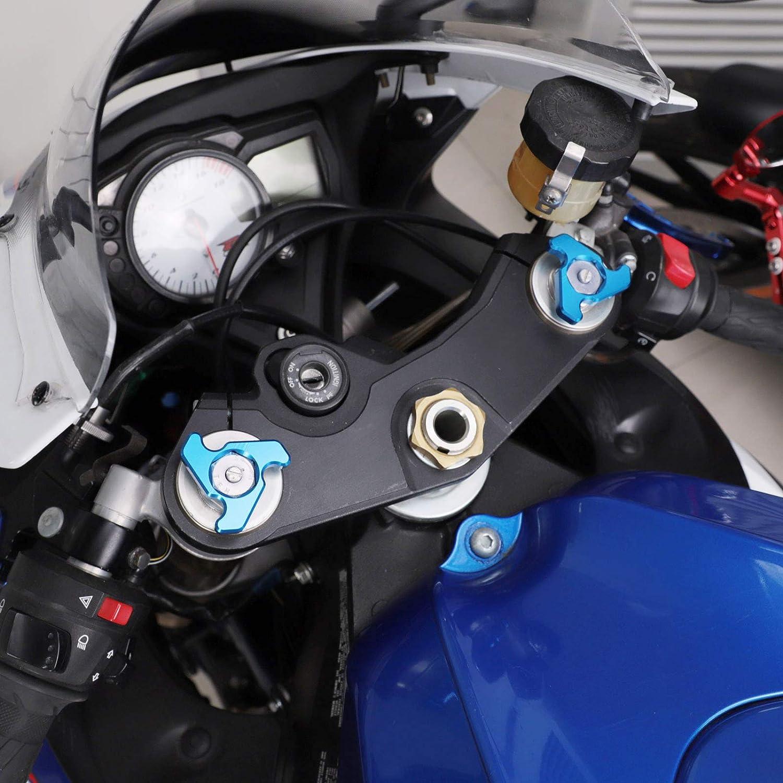 Front Fork Preload Adjusters for Kawasaki Yamaha Suzuki Ducati Triumph Motorcycle CNC Racing 19mm
