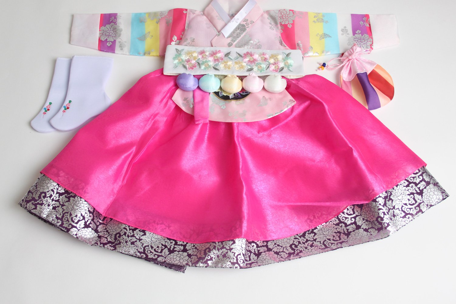 Korean hanbok girls DOLBOK 1st birthday traditional costumes hb062 by hanbok store (Image #5)
