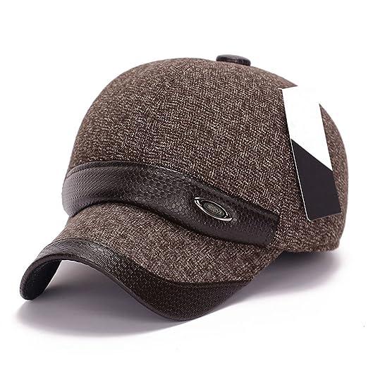 772707841ba Amazon.com  King Star Men Flexfit Wool Leather Blend Plain Baseball Cap Hat  Brown (0602401138285)  Books