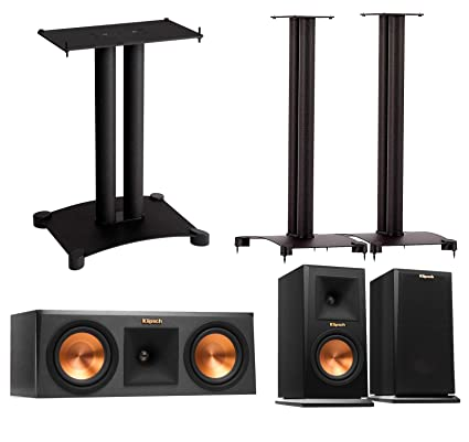 Klipsch Reference Premier 30 Speaker System With Stands 1 Pair RP150M Bookshelf Speakers