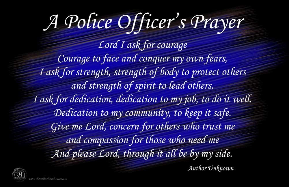 Amazoncom Brotherhood Posters A Police Officers Prayer Wall