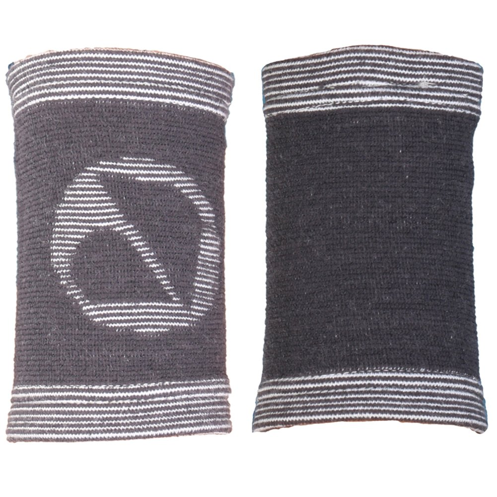 millet16zjh 2Pcs Unisex Bamboo Charcoal Absorbent Sports Wrist Sleeve Brace Joint Protector S
