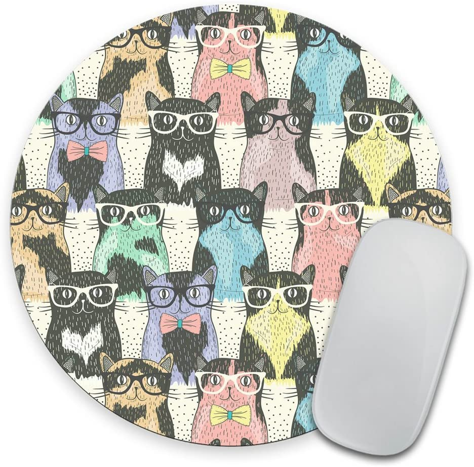 Coworker Gift Cat Mouse Pad Funny Office Desk Accessories Office Supplies Dorm Decor Cute Office Decor Mousepad Cat Lady Gift Mint Pink Blue