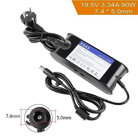 FSKE® 90W 19.5V 4.62A Cargador del Ordenador Portátil para DELL LA65NS0-00