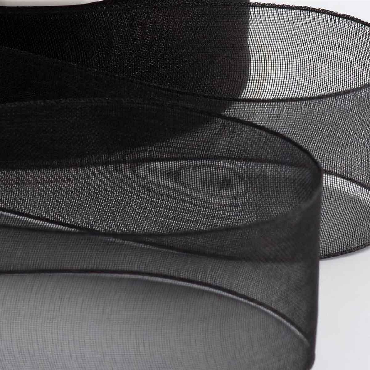 25mm p/êche Rouleau de 46 m de ruban en organza aux bords tiss/és de qualit/é sup/érieure--