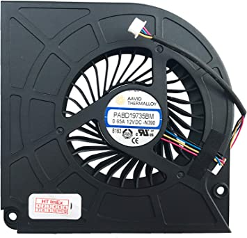 CPU Version) Ventilador Ventilador Compatible con MSI GT73EVR 7RE ...