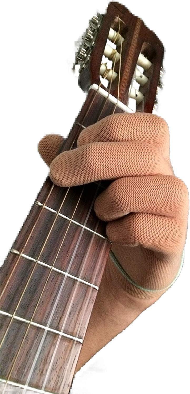 Guante de guitarra Guante de bajo para la punta delos dedos por Musician Practice Glove –L- 2 guante de guitarra-Para músicos profesionales y principiantes- Continúe tocando sin dolor, sin problemas m