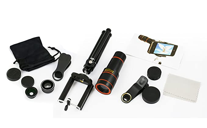 Posma MT1201+ML301 12x Zoom óptico 5 en 1 Kit de Lentes de cámara ...