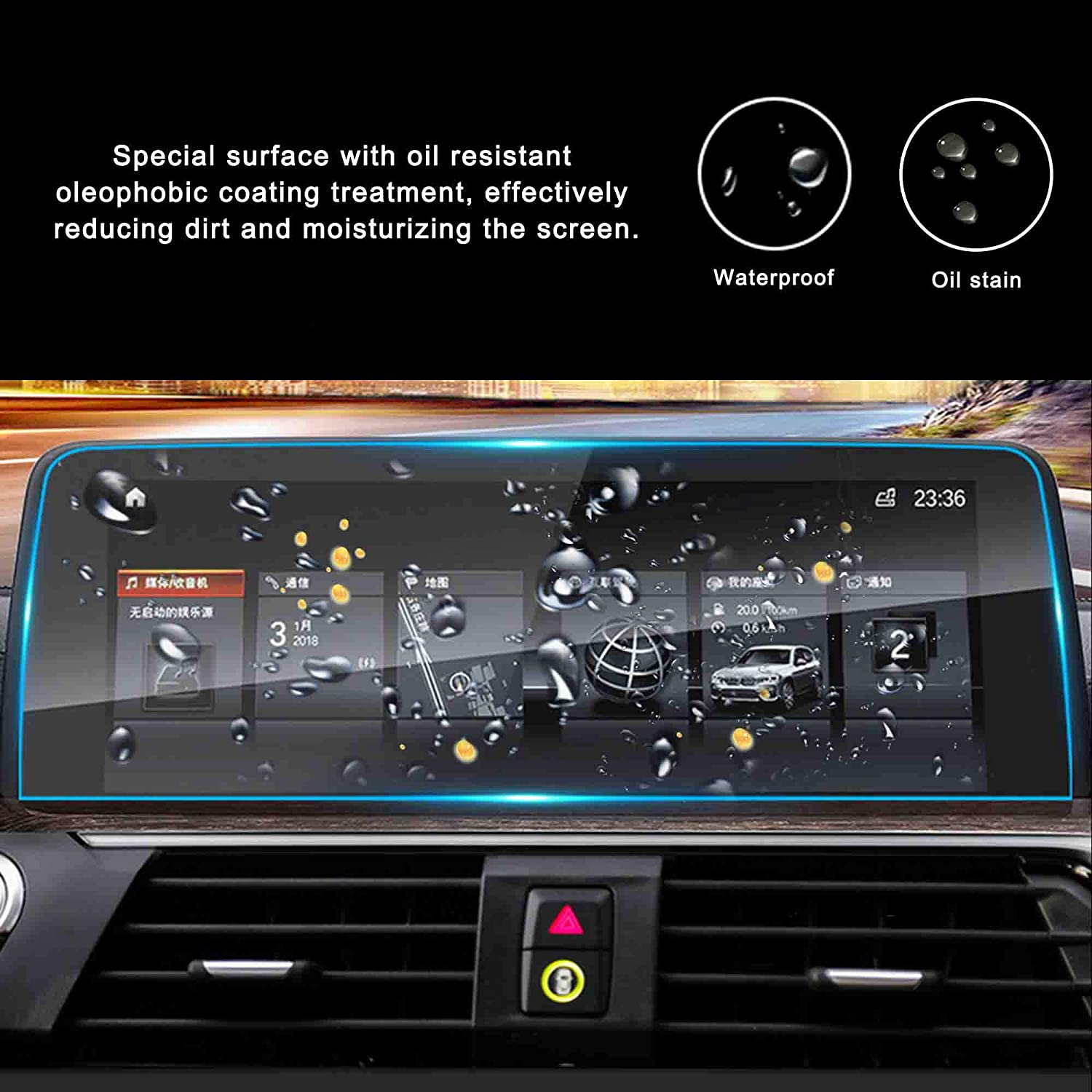 WINKA Car Navigation Screen Protector Compatible for 2018 X3 G01 X4 G02 9H Tempered Glass Center Touch Screen Protector Anti Scratch High Clarity 1PCS