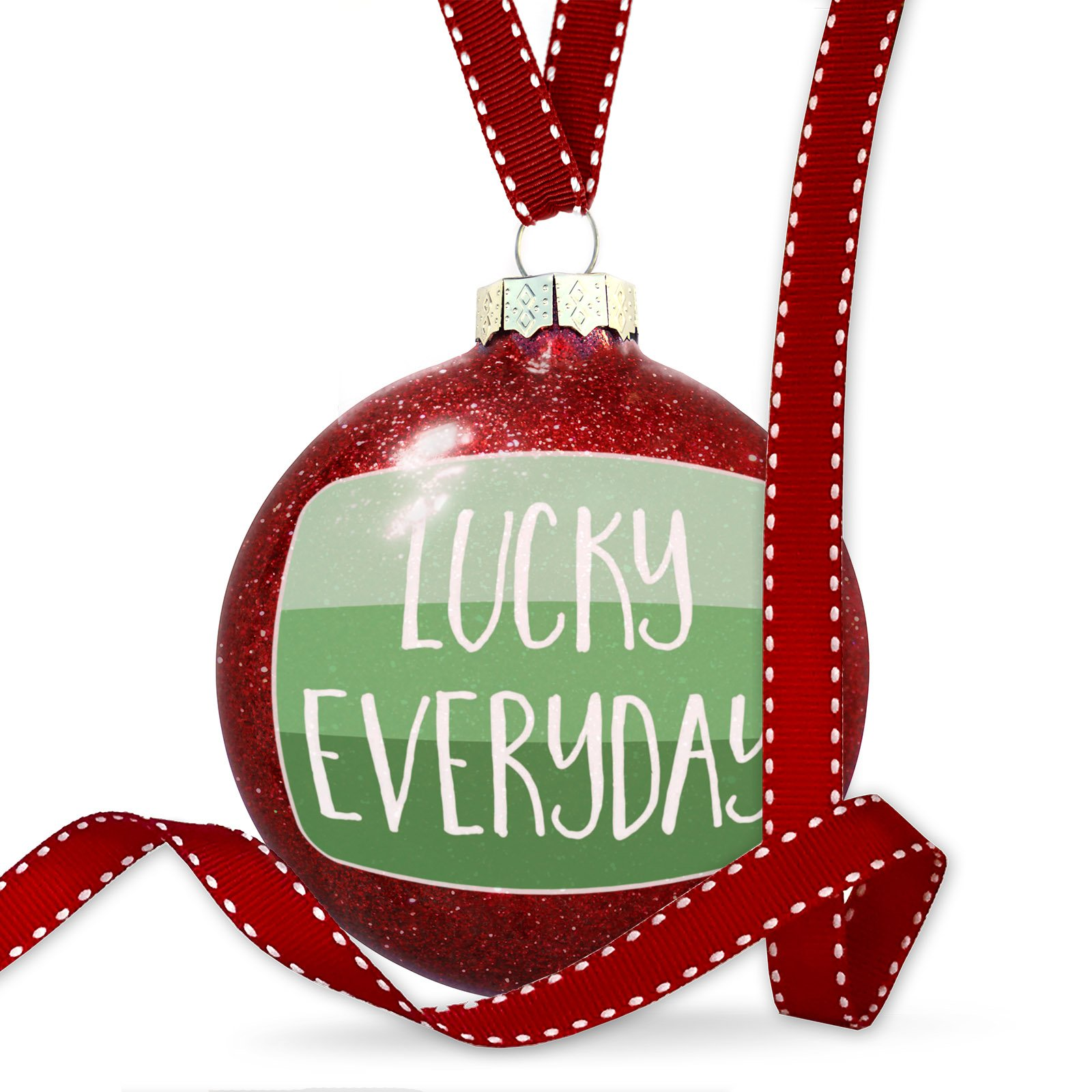 Christmas Decoration Lucky Everyday St. Patrick's Day Gradient Stripes Ornament