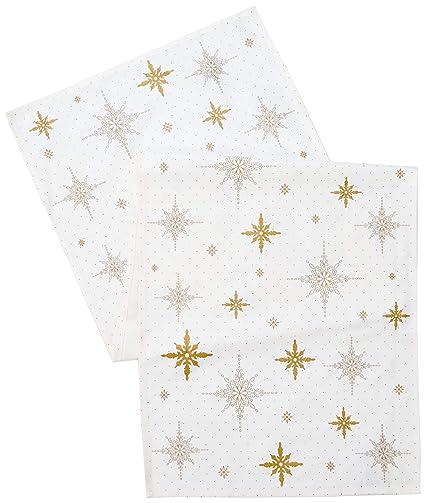 Villeroy U0026 Boch Berry Christmas 2018 Tapete Estrellas, Algodón,, 50 X 150 Cm