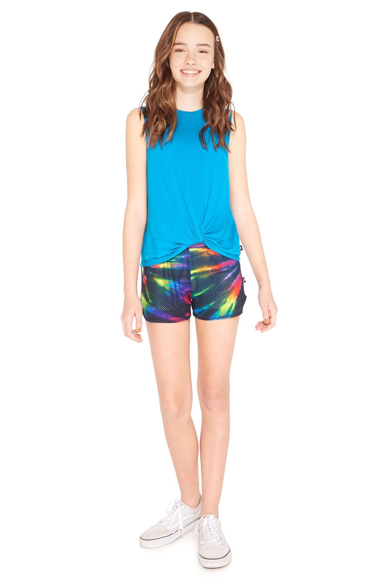 Terez Girls Classic Mesh Shorts (Tie Dye, 4 - Small) by Terez (Image #1)