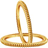 Zeneme Traditional Ethnic One Gram Gold Plated Designer Bangle for Women & Girls…