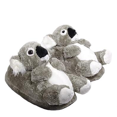 5423c8f98b Sleeper'z Hausschuhe Koala - rutschfeste Plüsch Tierhausschuhe - 36/37 ...