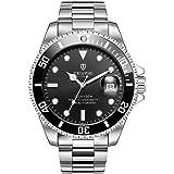 TEVISE T801 メンズ自動機械式時計 光沢のある腕時計 30M毎日の防水 スチールバンド 男性スポーツクロック