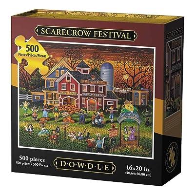 Dowdle Jigsaw Puzzle - Scarecrow Festival - 500 Piece: Toys & Games