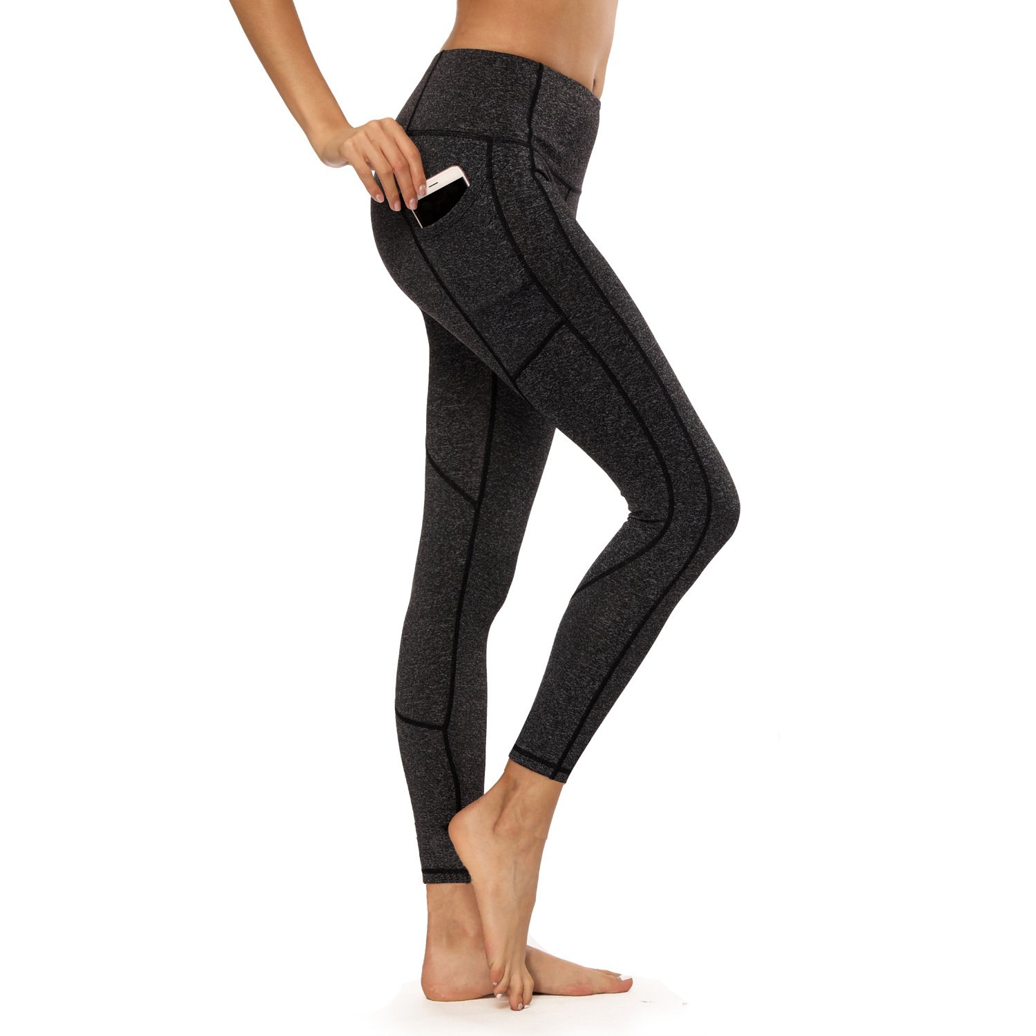 Crafeel High Waisted Yoga Pants Workout Leggings Tights For Women