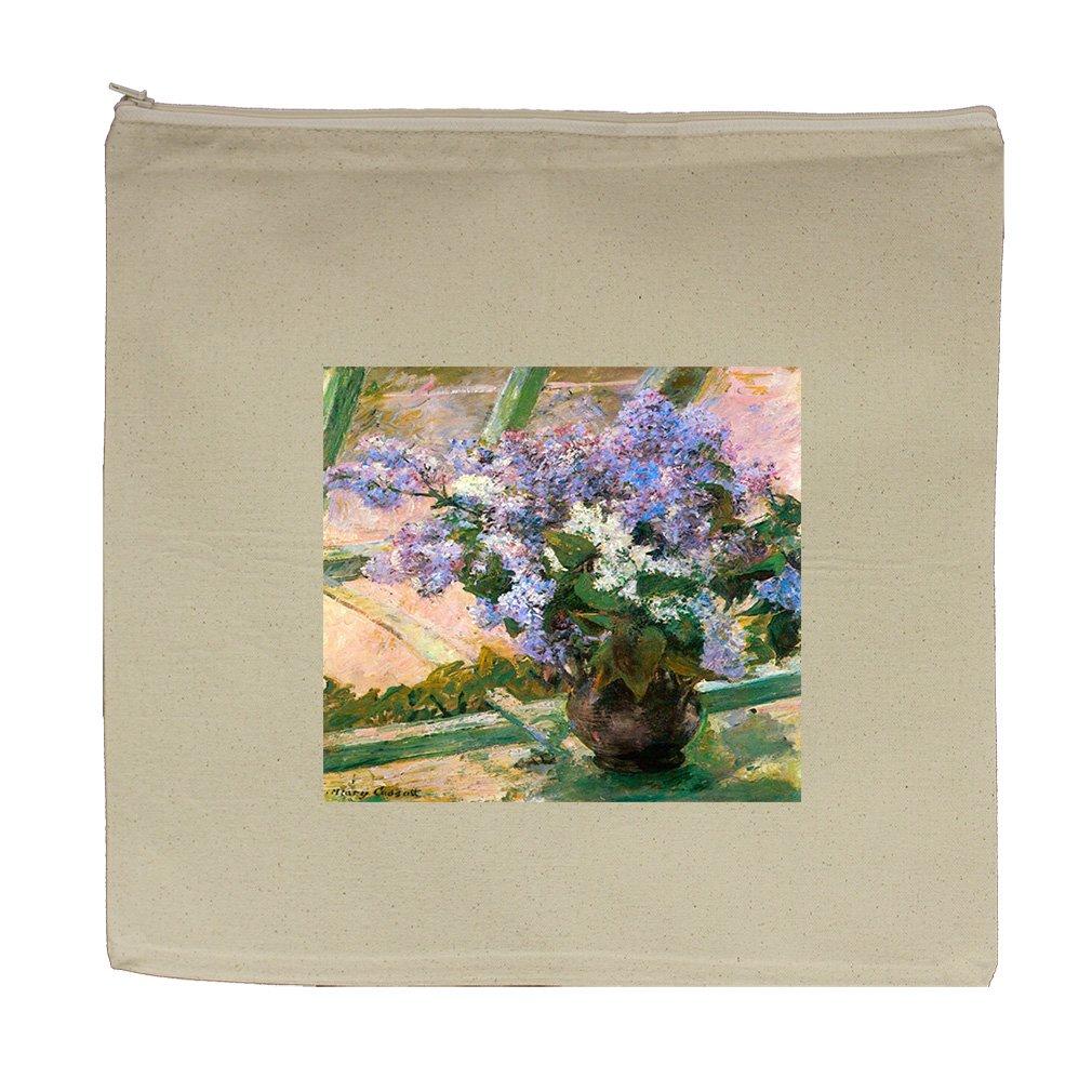 Flowers In The Window #2 (Cassatt) Canvas Zipper Tote Bag Makeup Bag