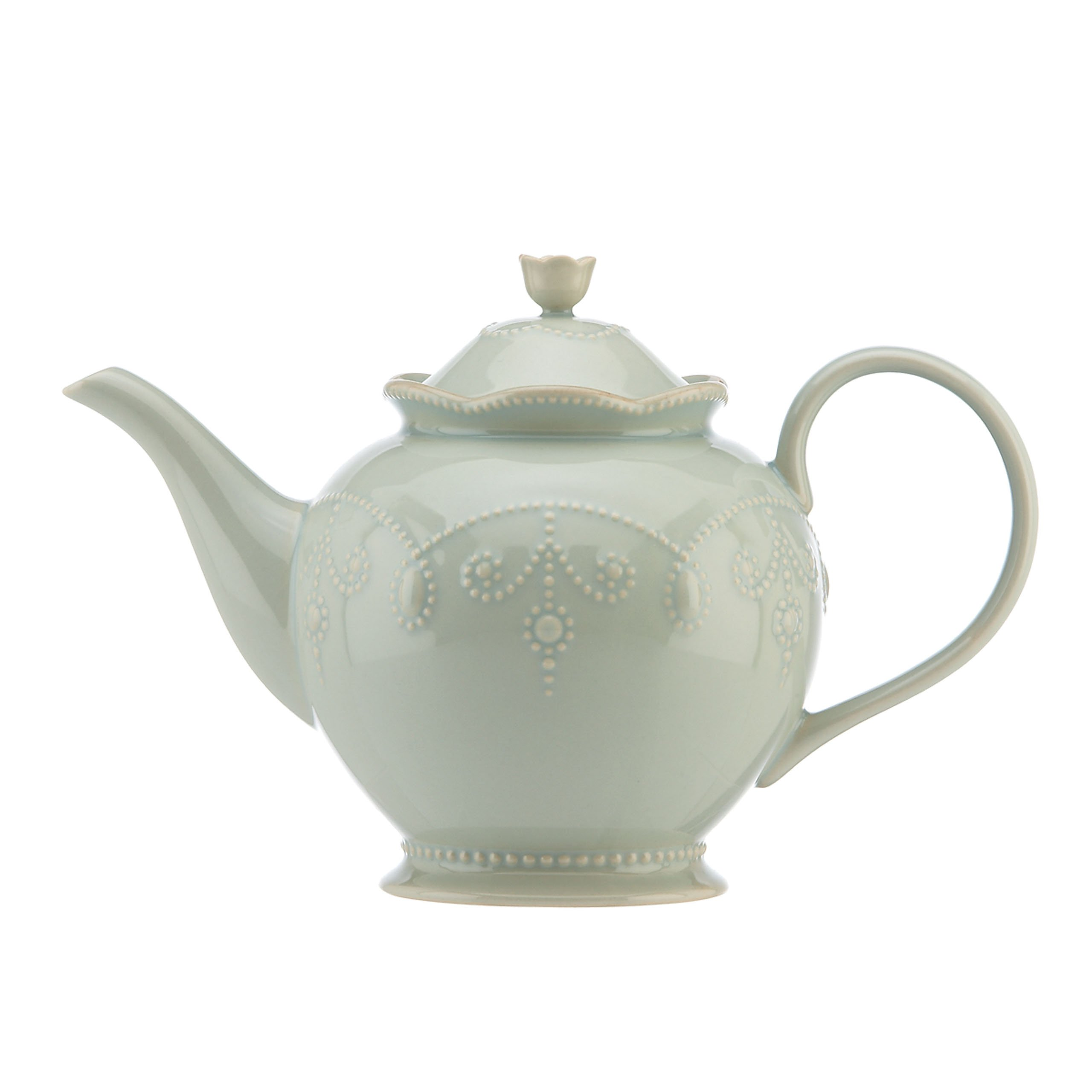 Lenox French Perle Teapot, Ice Blue