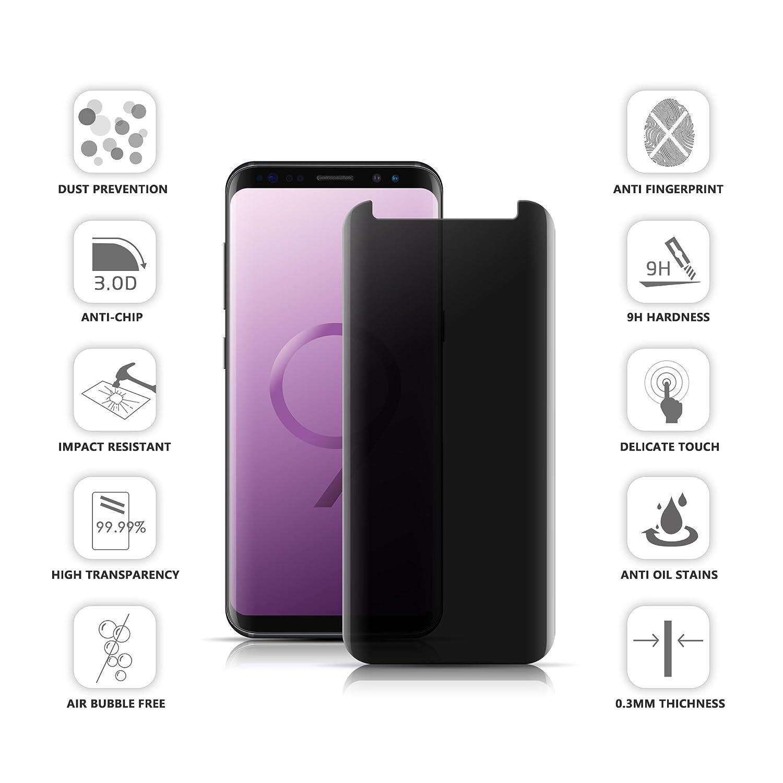 VIEE Samsung Galaxy S7 Edge Displayschutzfolie Sichtschutz temered Glas Blendschutz HD Privacy Schutz Glas Displayschutzfolie für Galaxy S9 Anti Spy