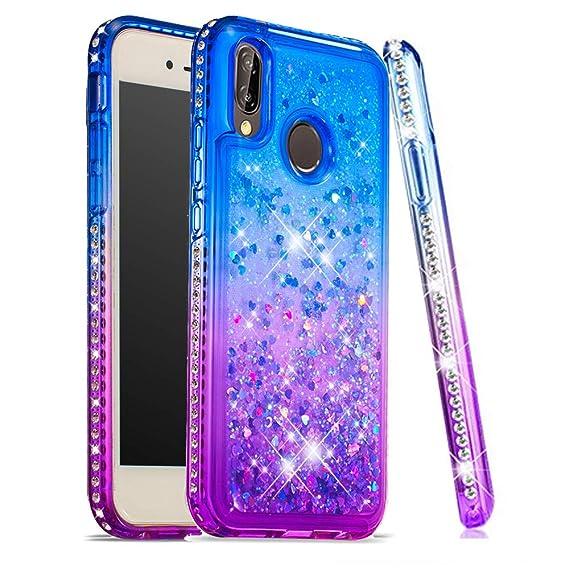 newest collection b0a81 0560b Amazon.com: ISADENSER Huawei P20 Lite Case Huawei Nova 3e Glitter ...