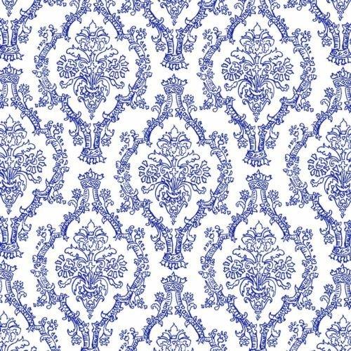 Royal Blue Damask Wedding Tiffany Birthday Edible Frosting Image 1/2 sheet Cake - Images Tiffany Blue Of