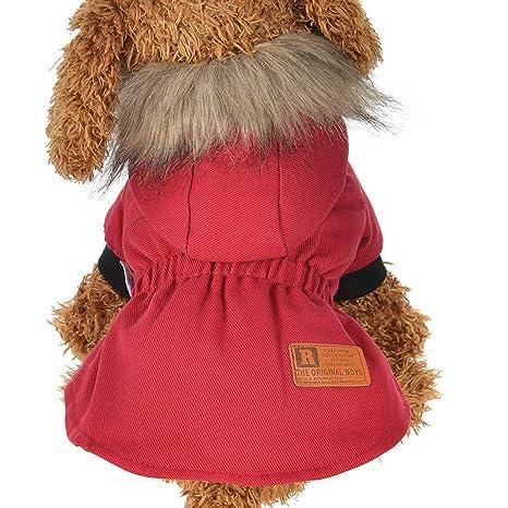 TYJY Ropa para Perros Ropa De Invierno para Perros Chaquetas Perros Calientes Ropa para Mascotas Abrigo