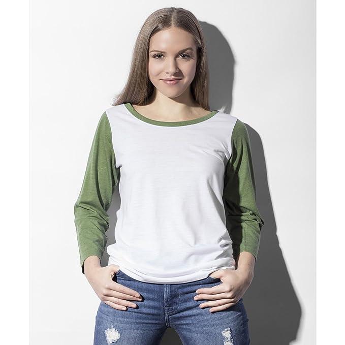 3df450e08 Nakedshirt - Camiseta Estilo Béisbol Modelo Jessica para Mujer  Amazon.es   Ropa y accesorios