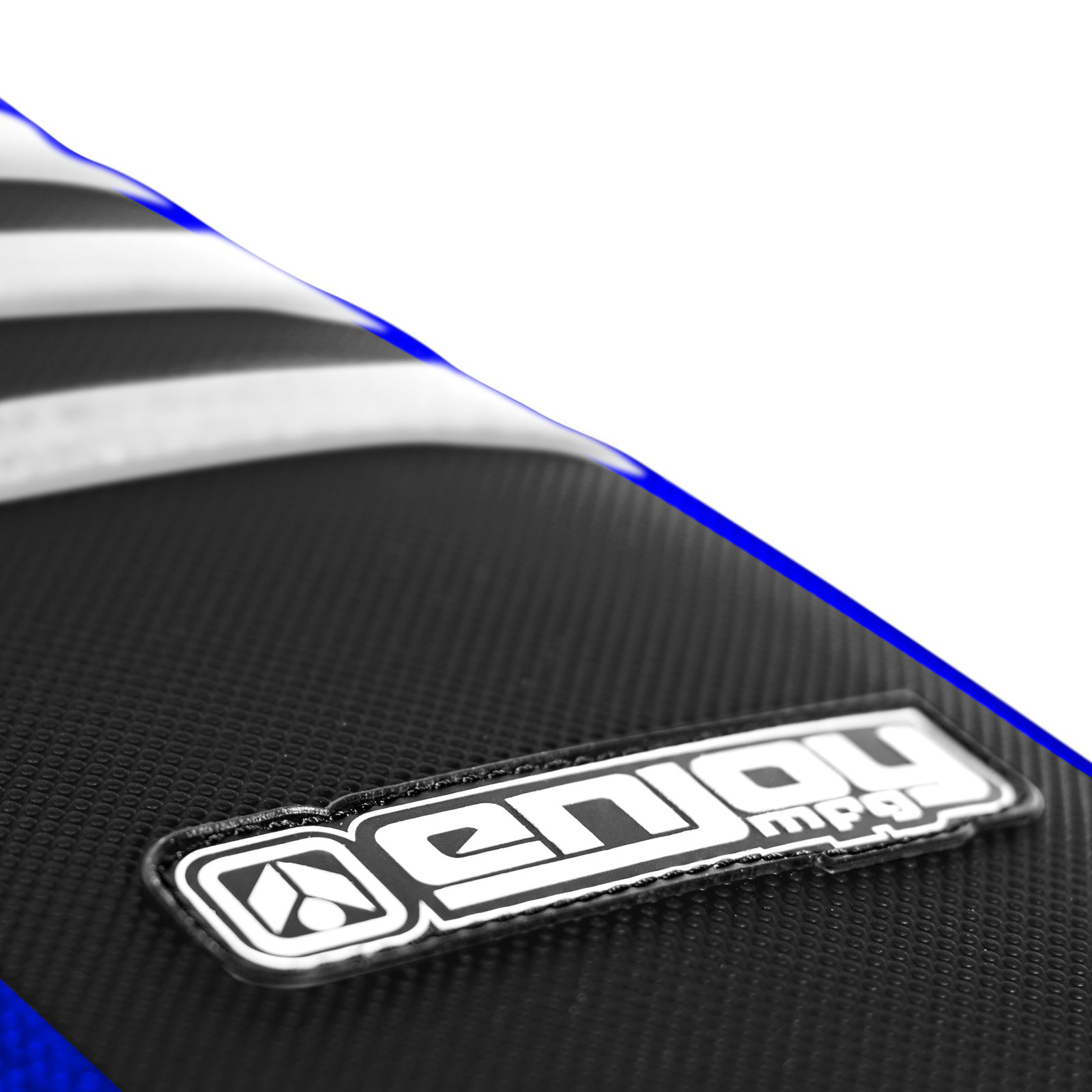 Enjoy MFG Ribbed Seat Cover for 1996-2001 Yamaha YZ 125/250 - Blue Sides / Black Top / White Ribs by Enjoy MFG (Image #2)