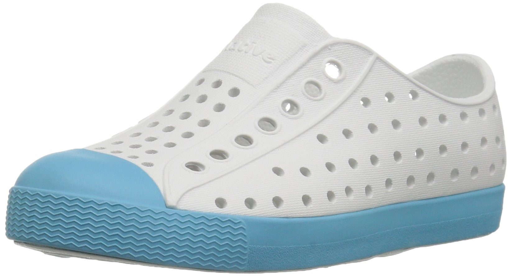 Native Kids Jefferson Water Proof Shoes, Shell White/Surfer Blue, 4 Medium US Toddler