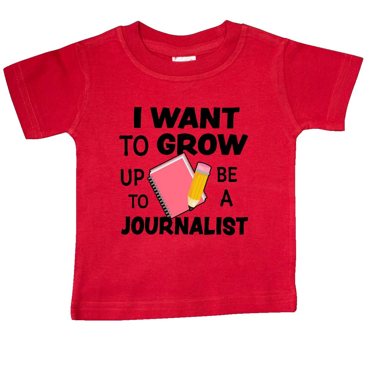 inktastic I Want to Grow Up to Be a Journalist Baby T-Shirt