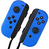 Nintendo Switch ジョイコン 用 スキンシール 選べるカラー アクアブルー カバー シール ケース 高級素材 側面対応 丈夫で長持ち 保護 高級感のある手触り 簡単に貼り付け可能 ニンテンドースイッチ (アクアブルー)