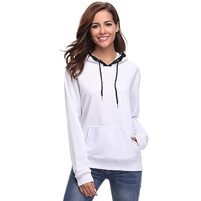 Aibrou Womens Hoodie Sweatshirt Long Sleeve Kangaroo Pocket Pullover Hoodie