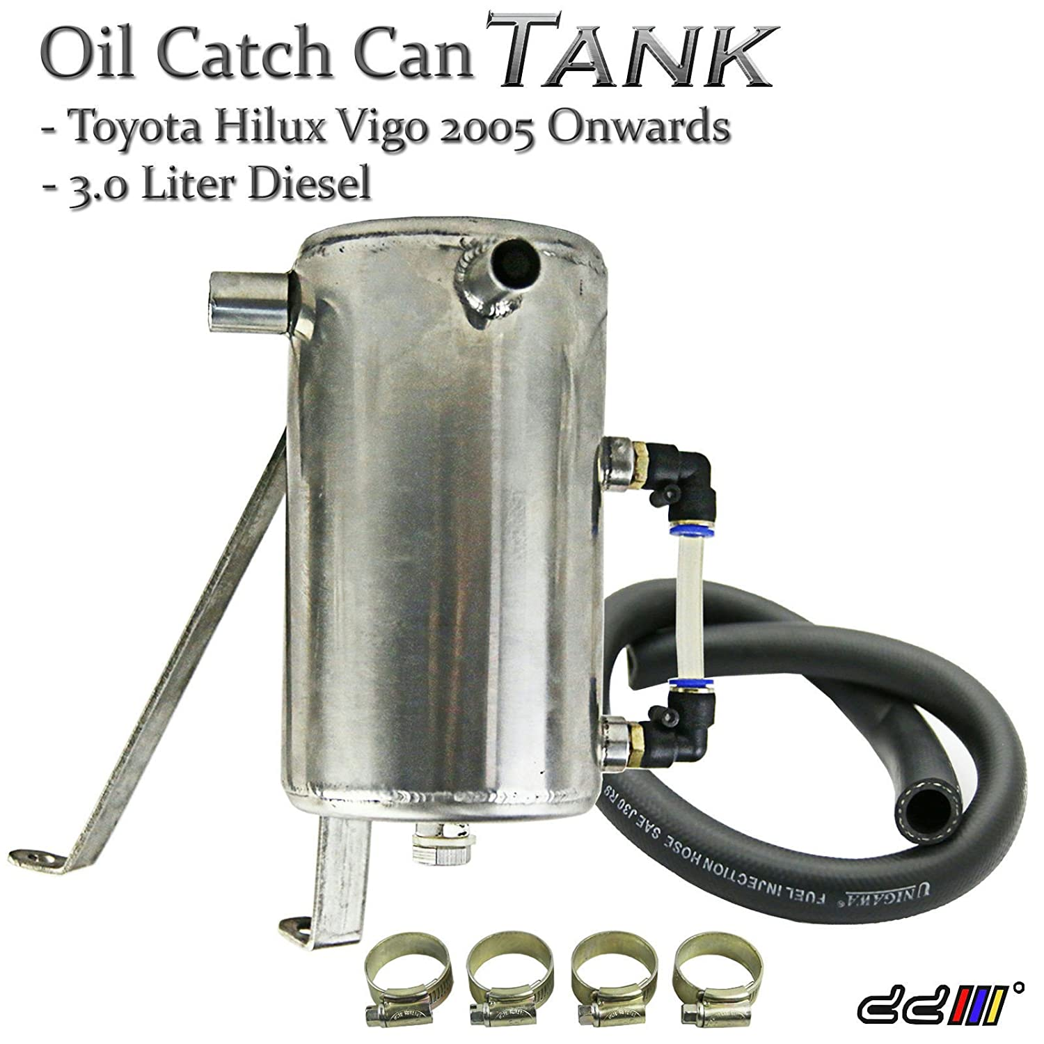 Amazon.com: Hilux Vigo 2005++ 3.0L 1KD Diesel Turbo Stainless Steel Oil Catch Can/Tank 16mm: Automotive