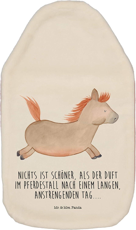 Mr Panda K/örnerkissen Farbe Wei/ß Kinderw/ärmflasche W/ärmflasche Pferd springt mit Spruch /& Mrs