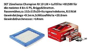 Champion ® Zündkerze RJ19LM für Rasenmäher