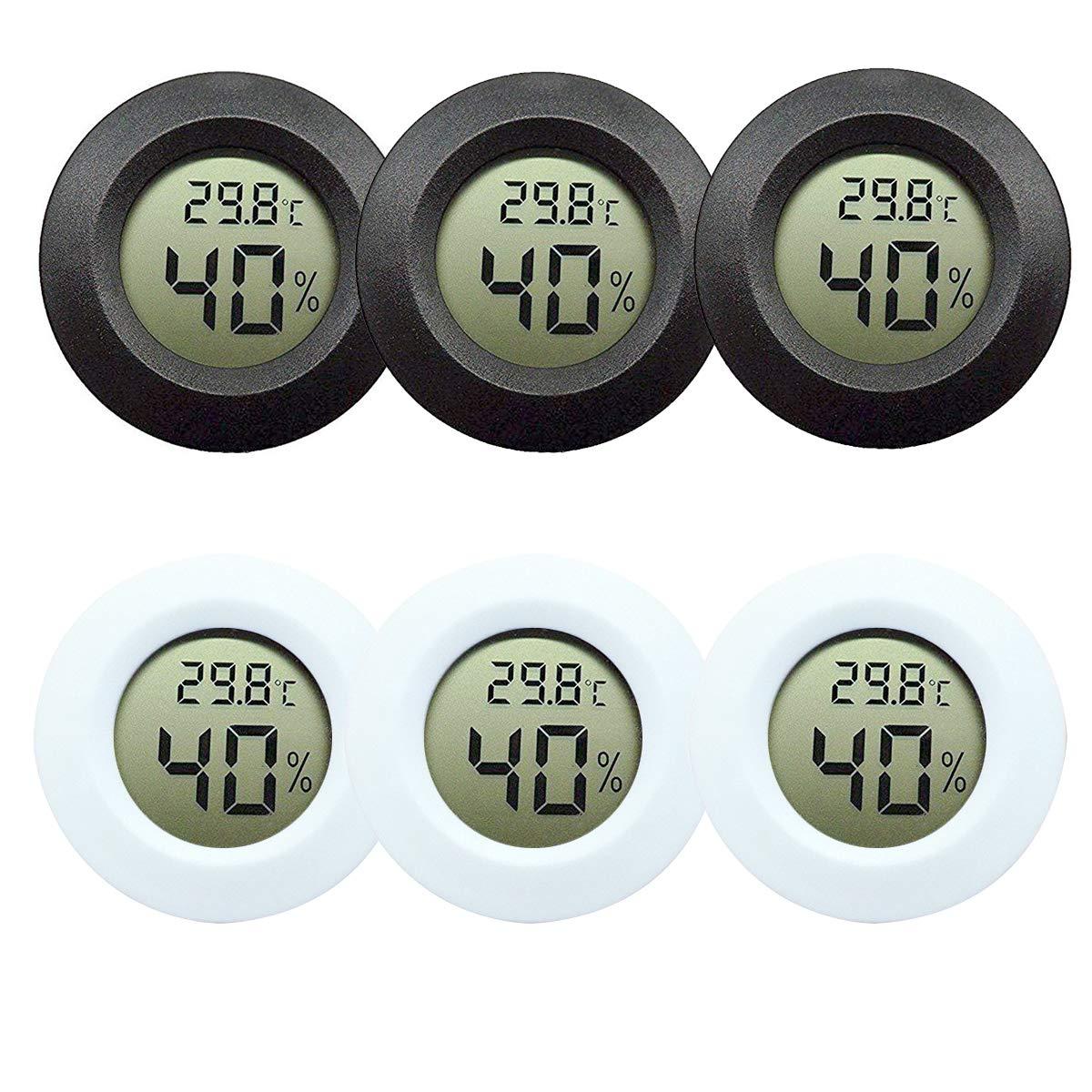 Mini Digital Temperature Humidity Meter Gauge Shyshing Thermometer Hygrometer LCD Degree Centigrade (C) Display Indoor (1Pc) Shyshining