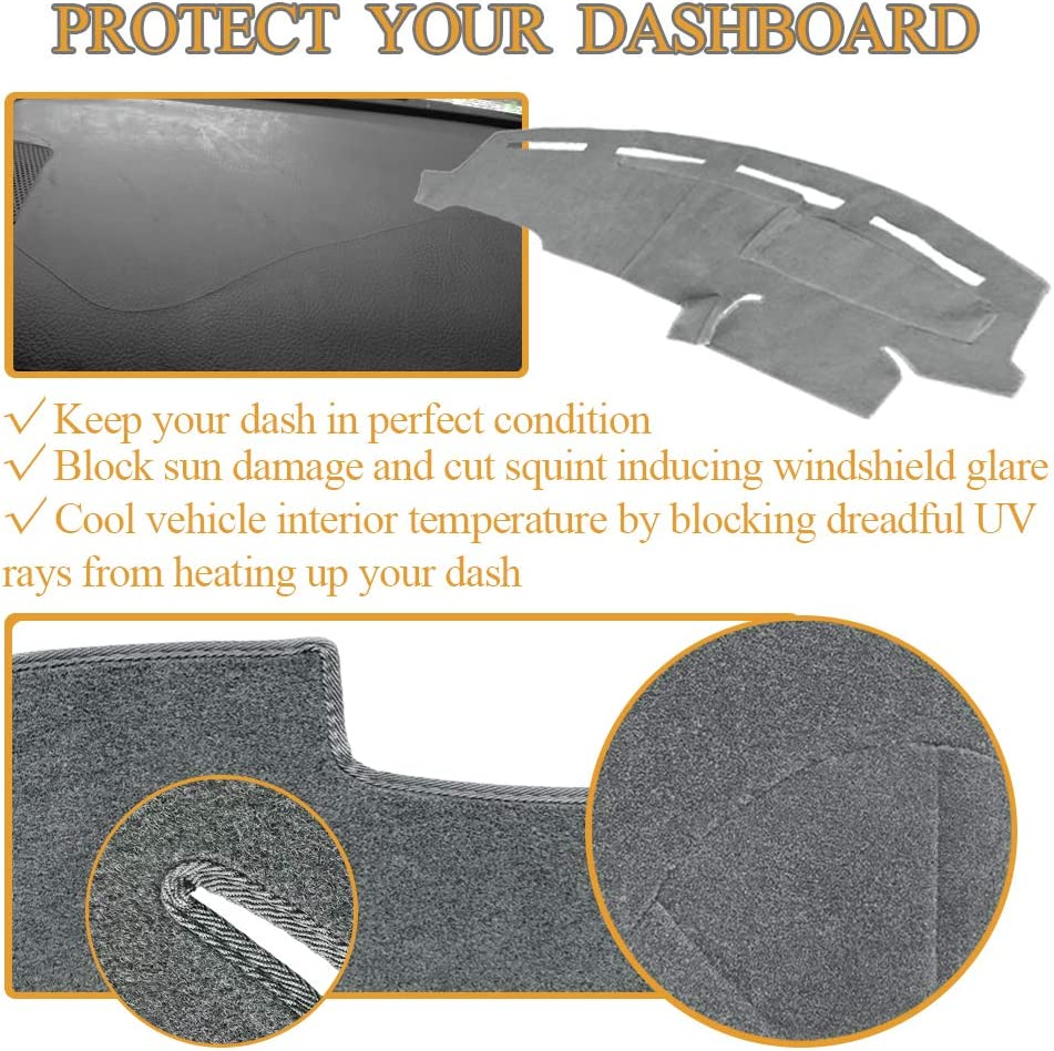 Y72 Black AKMOTOR Dash Cover Dashboard Cover Pad Mat Custom Fit for Ford F250 F350 F450 1999-2004